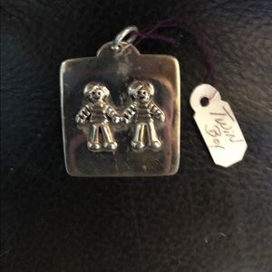 Jewelry - New sterling silver twin boys brothers big charm